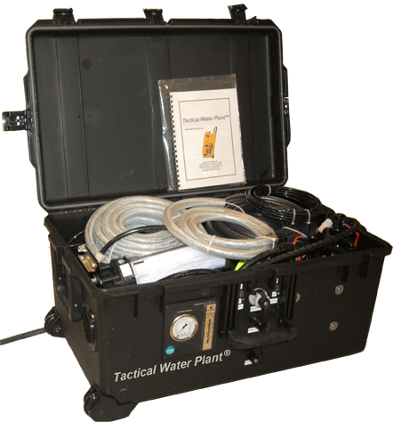 Our Water Plant comes ready to use in a durable tactical case. Click for more info...